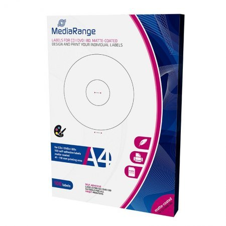 Labels Mediarange CD / DVD / Bluray 41/118mm Pack 100