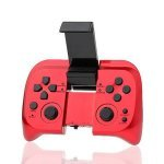 Gamepad con Bluetooth para Android/iOS/PC con Soporte para Movil Mirtech Rojo