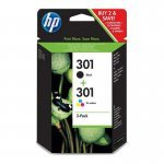 HP 301 Cartucho de Tinta Original Pack Negro + Color