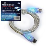 MediaRange - USB 2.0 Printer Cable with LEDs 1,8mts