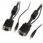 15 m Coax High Resolution Monitor VGA Cable with Audio