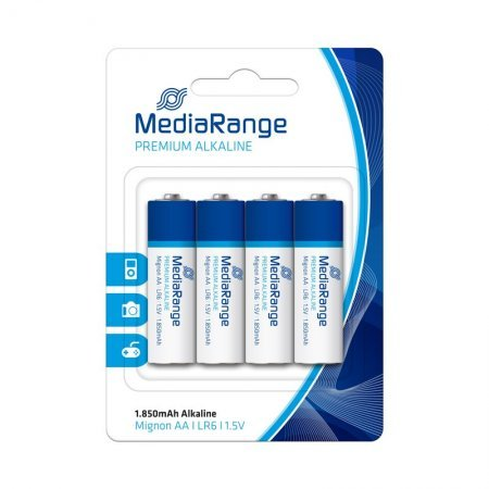 AA Alkaline Battery MediaRange pack 4 pcs (LR6)