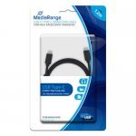 Cable MicroUSB Tipo C a MicroUSB Tipo C MediaRange 1.2m Negro