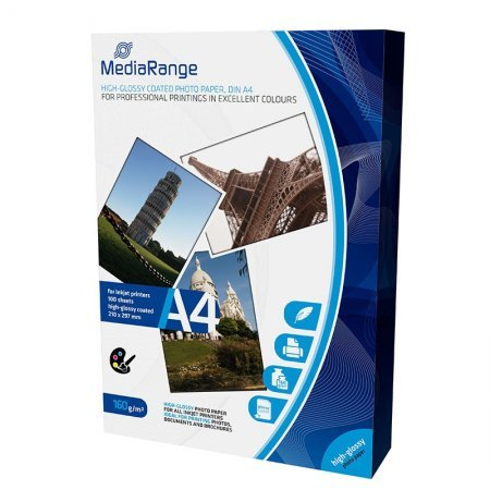 Mediarange Glossy Photo Paper 160 G/m2 100 pcs A4