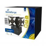 MediaRange Caja CD Jewel p/6 discos Pack 5 uds