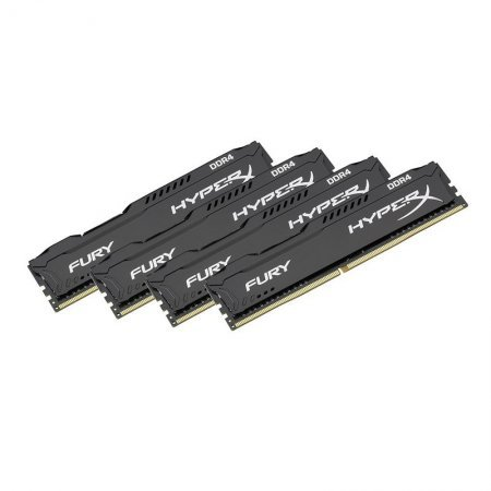 Memoria Kingston HyperX Fury Black 16GB (4x4) DDR4 2133MHz CL14 Single Rank