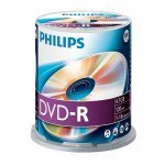 DVD-R 16X Philips Tarrina 100 uds