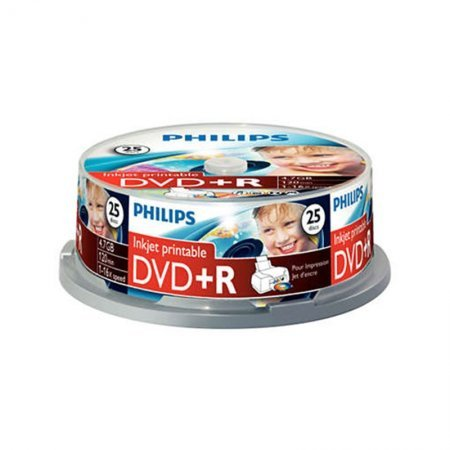 DVD+R 16x Philips Printable Tarrina 25 uds