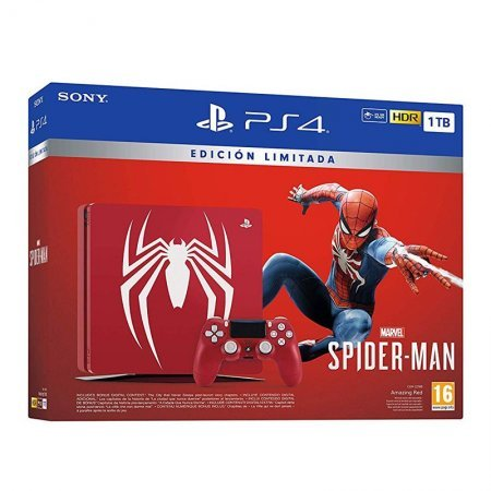 Sony PlayStation 4 Slim 1TB Edición Spider-Man+ Marvel\'s Spider-Man