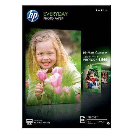 Papel HP Glossy Everyday Photo Paper Q2510A A4 (100 Uds.)