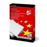 Papel Multifuncion 5 Star Premium DIN-A4 80g pack 500 pcs (Red)