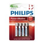 Pila Alcalina AAA Philips Power pack 4 uds (LR3)
