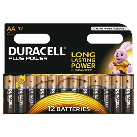 Pila Alcalina AA Duracell Plus Power MN1500B12 pack 12 uds (LR6)