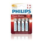 Pila Alcalina AA Philips Power pack 4 uds (LR06)