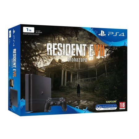 Sony PlayStation 4 Slim 1TB + Resident Evil VII