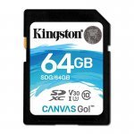 Kingston Canvas Go! Tarjeta SDXC 64GB Clase 10 UHS-I U3 V30