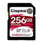 Kingston Canvas React Tarjeta SDXC 256GB Clase 10 UHS-I U3 V30 A1