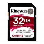 Kingston Canvas React Tarjeta SDHC 32GB Clase 10 UHS-I U3 V30 A1