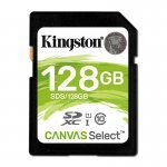 Kingston Canvas Select Tarjeta SDXC 128GB C10 UHS-I 80 MB/s