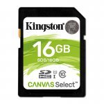 Kingston Canvas Select Tarjeta SDHC 16GB C10 UHS-I 80 MB/s