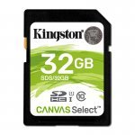 Kingston Canvas Select Tarjeta SDHC 32GB C10 UHS-I 80 MB/s