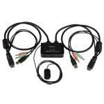 2 Port USB HDMI� Cable KVM Switch with Audio