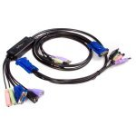 2 Port USB VGA Cable KVM Switch with Audio