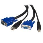 6 ft 2-in-1 USB KVM Cable