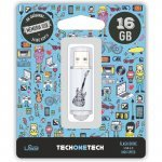 Pendrive 16GB Tech1Tech TEC4006-16 Crazy Black Guitar
