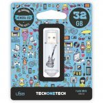 Pendrive 32GB Tech1Tech TEC4006-32 Crazy Black Guitar