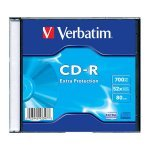 CD-R 52x 700MB Verbatim Extra Protection Caja Slim pack 200 uds
