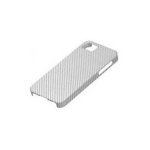 iPhone 4 / 4S IQWO Funda Fibra de Carbono Plata