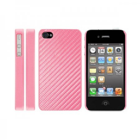 iPhone 4 / 4S IQWO Funda Fibra de Carbono Rosa