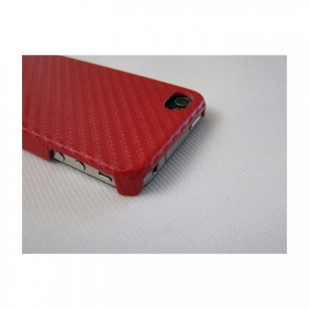 iPhone 4 / 4S IQWO Funda Fibra de Carbono Rojo