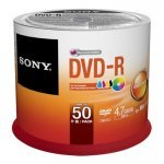 SONY DVD-R Inkjet Printable 16x Spindle 50 pcs (50DMR47PP)