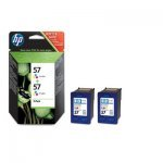 HP 57 Cartucho de Tinta Original Tricolor Pack 2