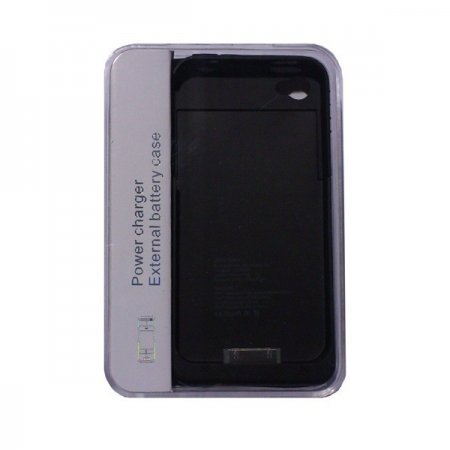 iPhone 4 / 4s Carcasa Bateria Externa 1900 mAH Color Negro