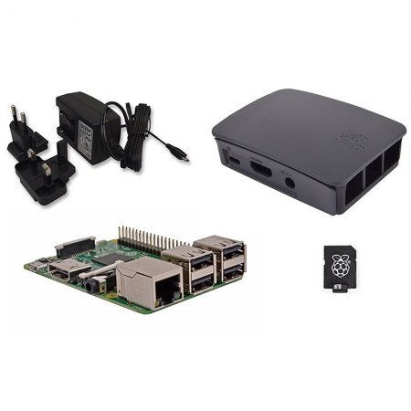 Kit Raspberry Pi 3 Modelo B / NOOBS 32GB + Fuente Negra