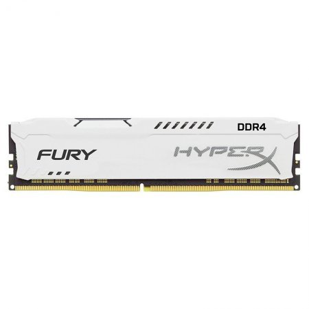 Memoria Kingston HyperX FURY 8GB DDR4 2400MHz Blanca