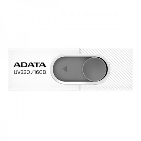 Pendrive 16GB Adata UV220 Blanco/Gris