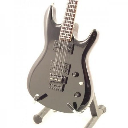 Mini Guitarra De Colección Estilo Joe Satriani - Js Black
