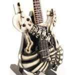 Mini Guitarra De Colección Estilo Lynch Mob - George Lynch - Skull & Bones
