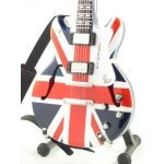 Mini Guitarra De Colección Estilo Oasis - Noel Gallagher - Union Jack