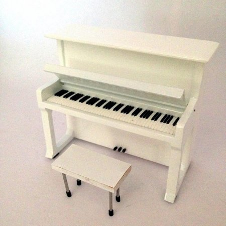 Mini Piano Vertical de Colección Color Blanco