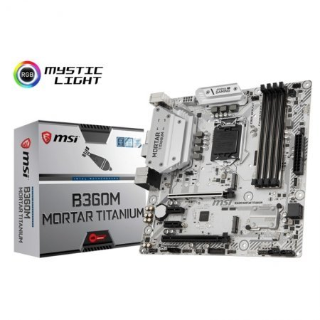 Placa Base MSI B360M Mortar Titanium mATX LGA1151(300)