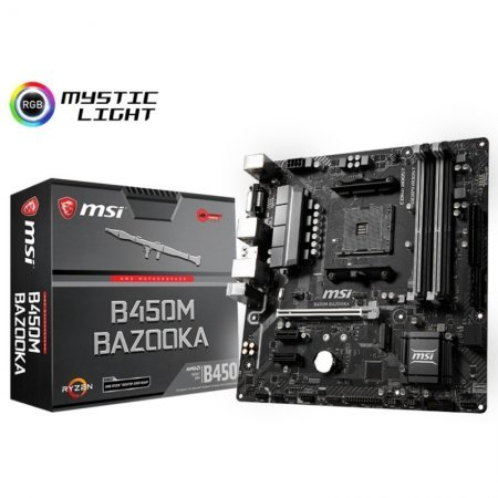 Placa Base MSI B450M Bazooka mATX Socket AM4