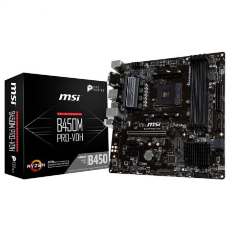 Placa Base MSI B450M PRO-VDH mATX Socket AM4